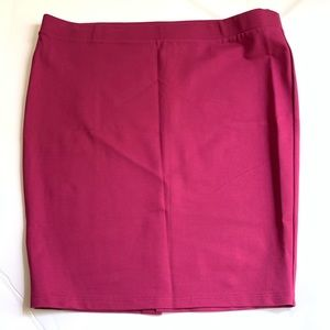 Torrid Raspberry Poly Spandex Knit Pencil Skirt